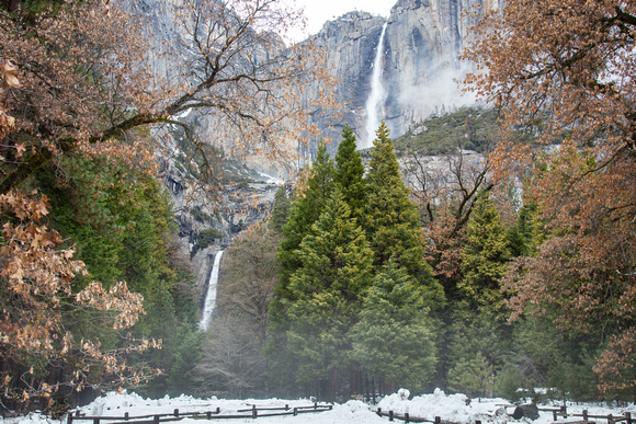 Yosemite Falls, Winter
